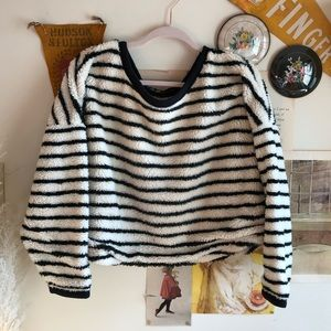 Free People Striped Pull Over